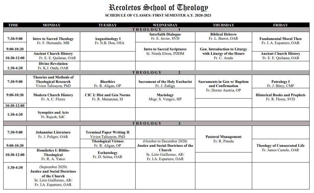 CLASSES 2020-2021