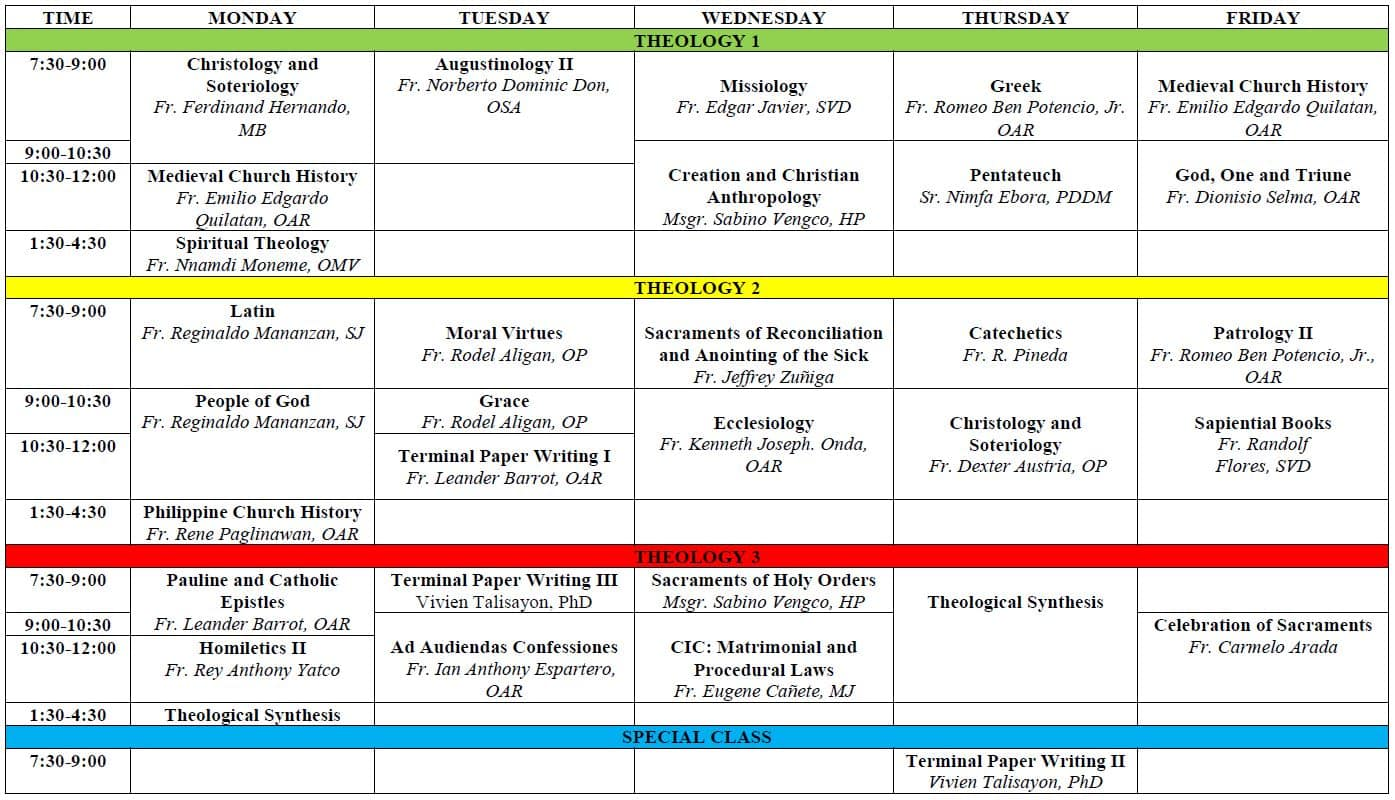 RST 2nd-Sem-AY-2020-2021-Classes Sched
